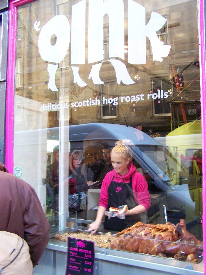 Oink, Edinburgh, Hog Roast Rolls