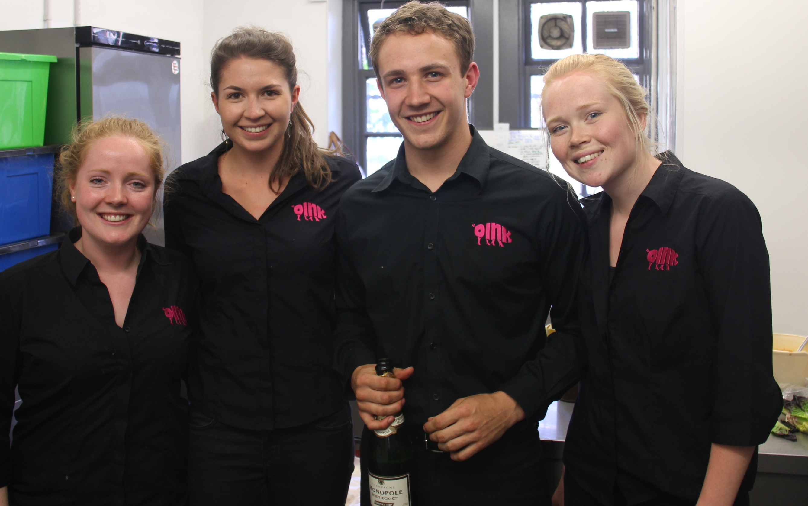 Our Oink team ready to serve a private function