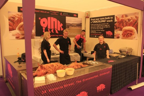 Our Team at an outside catering event