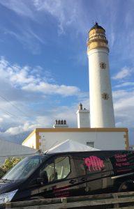 Oink at Barns Ness Light House near Dunbar